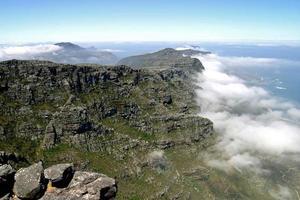 vue du haut de la montagne de la table photo