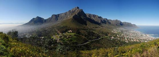 panorama de la montagne de la table photo