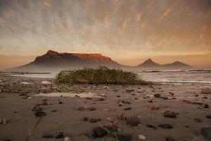 coucher de soleil sur la montagne de la table photo