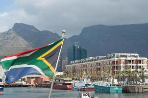 drapeau sud-africain cape town photo