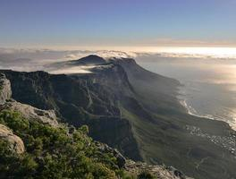 magnifique vue sur la montagne de la table photo