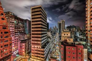 Vue de nuit de Hong Kong - Temple Street