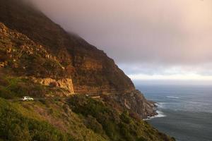 Route côtière de Chapman's Peak Drive près de Hout Bay, Afrique du Sud