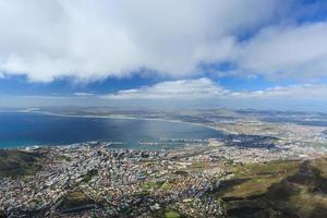 vue aérienne, de, cap, ville, depuis, montagne table