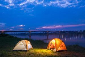 camp de tentes photo