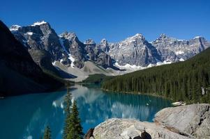 lac moraine dans le parc national de banff photo