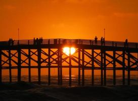 jetée d'amour plage pacifique photo
