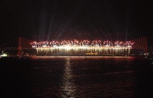 feu d'artifice, istanbul photo