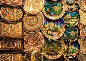 assiettes décoratives en cuivre photo