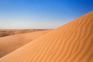 collines de sable du désert photo
