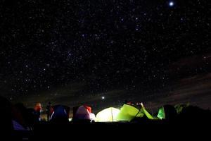 étoiles et tente photo