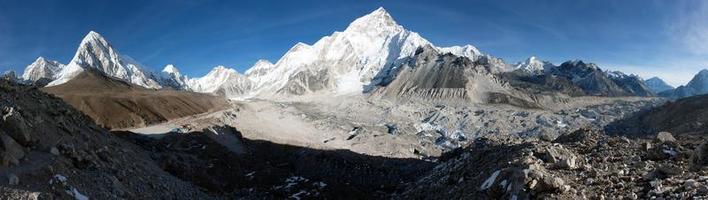 village de gorak shep, pumo ri, nuptse - népal photo