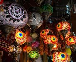 lampe multicolore lumineuse photo
