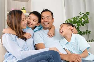 famille asiatique photo