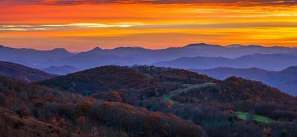 lever du soleil des Appalaches photo