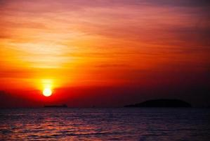 le coucher du soleil photo