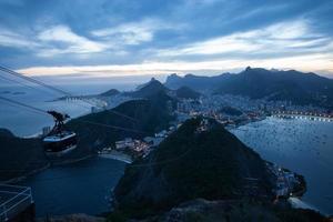 Vue depuis la montagne du Pain de Sucre, Rio de Janeiro, Brésil photo
