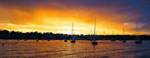 coucher de soleil port