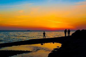 coucher de soleil mer photo