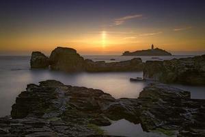 coucher de soleil godrevy photo