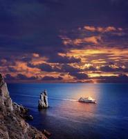 coucher de soleil sur la mer photo