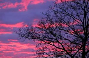 couleurs du coucher du soleil photo
