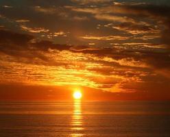 coucher de soleil clé lido photo