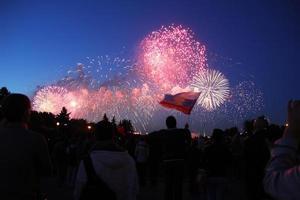 feu d'artifice du jour de la victoire en russie photo