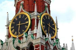 horloge kremlin, moscou, russie photo