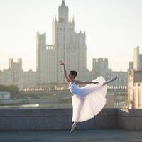 ballerine au centre de moscou photo