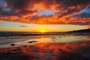 incroyable coucher de soleil malibu photo
