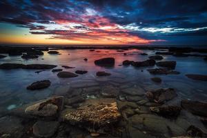 coucher de soleil sur le point de waipapa photo