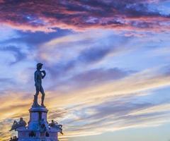 coucher de soleil à florence photo