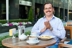 homme affaires, déjeuner photo