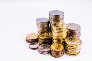 argent. les pièces. photo