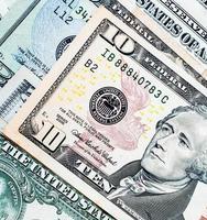 nous. fond de billets d'un dollar photo