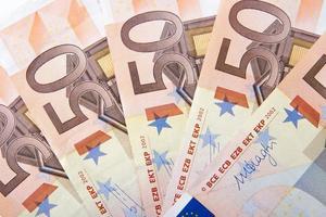 cinquante euros d'argent photo