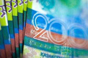 tenge de papier-monnaie kazakh photo