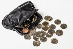 argent, finances. pièces en euro photo