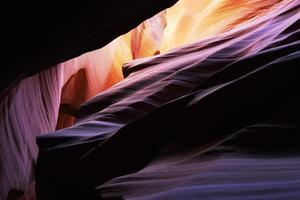 antilope canyon rocher strates rayon de soleil photo