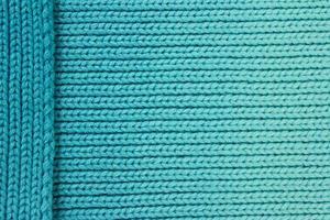 fond de laine turquoise avec pièce latérale en couches