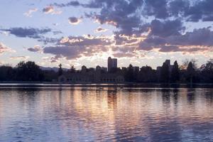 coucher de soleil de Denver