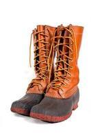 bottes de gomme traditionnelles, également appelées bottes de canard. photo