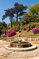 Fontaine dans les jardins du Palacio de Cristal, Porto, Portugal.