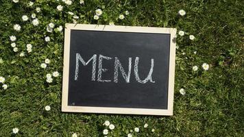 menu écrit photo