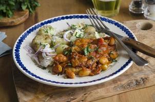 poulet aux haricots beurre et pommes de terre