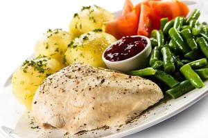 viande bouillie et légumes