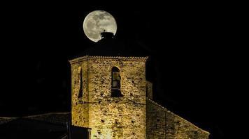 lune et clocher photo