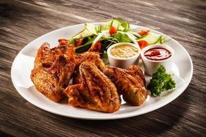 nuggets de poulet et légumes