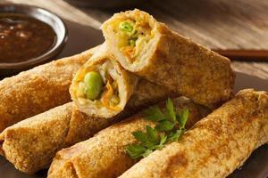 Eggrolls de légumes chinois faits maison